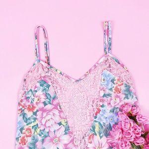 Vintage Victoria's Secret Floral Slip